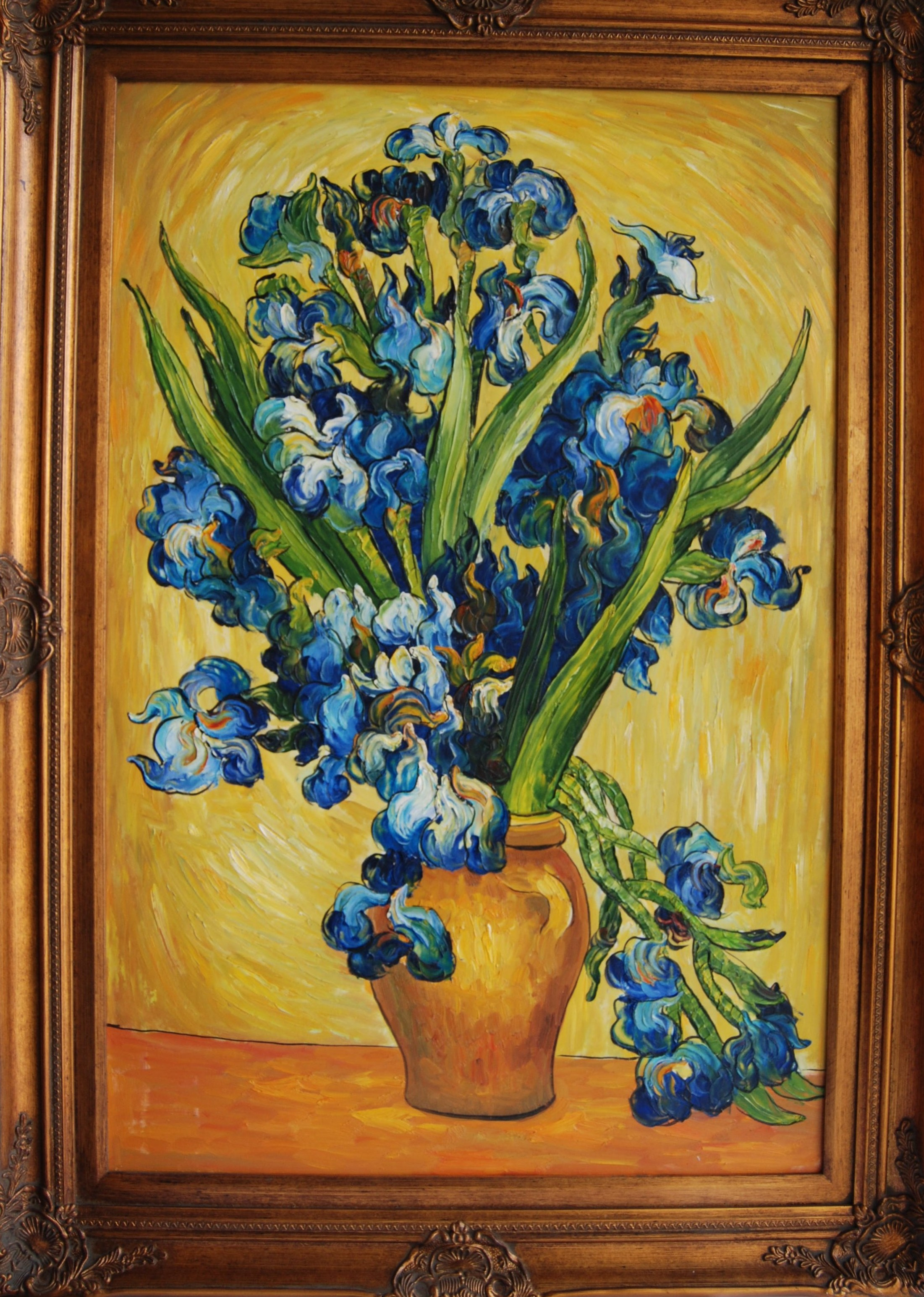 Irises on a vase by vincent van gogh laura kirsten irises reviewsmspy